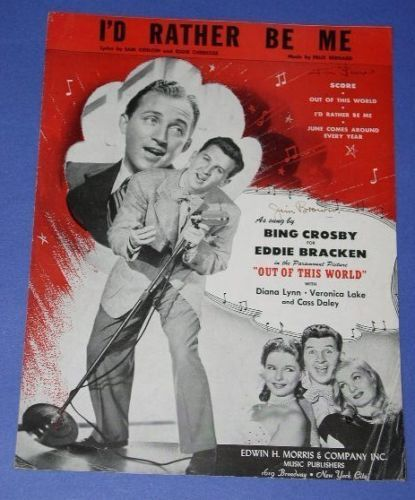 Primary image for BING CROSBY EDDIE BRACKEN VINTAGE SHEET MUSIC 1945
