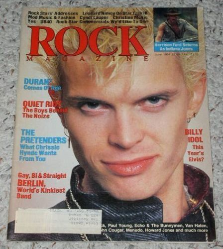 Primary image for Billy Idol Rock Magazine Vintage 1984 New Wave