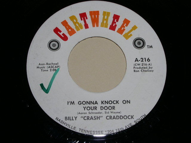 Primary image for BILLY CRASH CRADDOCK GONNA KNOCK ON YOUR DOOR 45 RPM PHONO RECORD