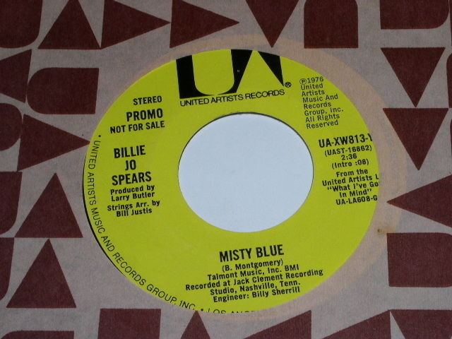 Primary image for Billie Jo Spears Misty Blue 45 Rpm Record Promotional