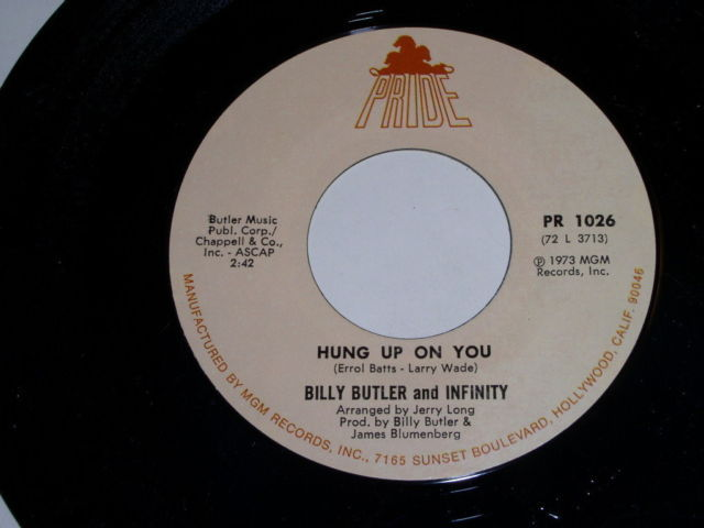 Primary image for Billy Butler Infinity When Your Baby's Gone Soul 45 Rpm Vintage 1973 Pride Label
