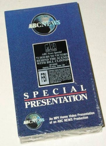 Primary image for BILL CLINTON VINTAGE 1991 VHS 72 HOURS TO VICTORY