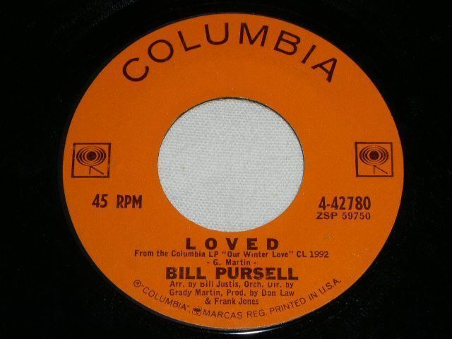 Primary image for BILL PURSELL LOVED 45 RPM RECORD VINTAGE EASY LISTENING