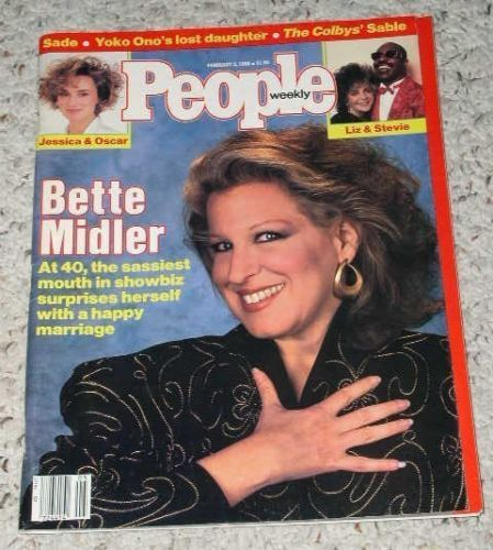Primary image for BETTE MIDLER PEOPLE WEEKLY MAGAZINE VINTAGE 1986