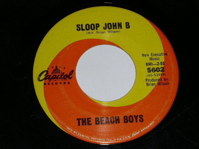 Primary image for Beach Boys 45 Rpm Phono Record Sloop John B Capitol