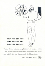 1948 Bell Telephone Military Soldier Call Home print ad - $10.00