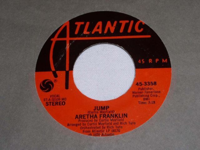 Primary image for ARETHA FRANKLIN JUMP MOTOWN 45 RPM RECORD VINTAGE