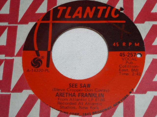 Primary image for ARETHA FRANKLIN SEE SAW MOTOWN 45 RPM RECORD VINTAGE