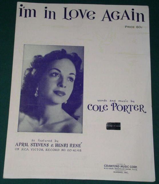 Primary image for APRIL STEVENS SHEET MUSIC COLE PORTER