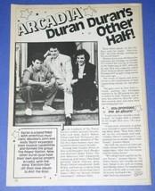 ARCADIA DURAN DURAN BOP MAGAZINE PHOTO VINTAGE 1985 - $12.99