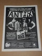 Antix Hit Parader Magazine Photo Vintage 1985 - $12.99