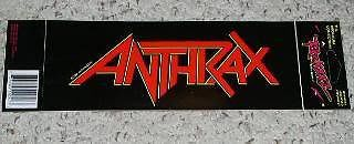 Primary image for Anthrax Bumpersticker Vintage 1991 Rockerz Brockum