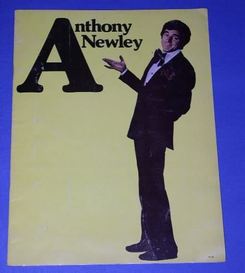 Primary image for ANTHONY NEWLEY CONCERT TOUR PROGRAM BURT BACHARACH
