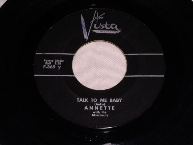 Primary image for ANNETTE TALK TO ME BABY 45 RPM RECORD