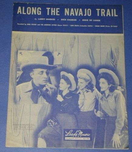 Primary image for ANDREWS SISTERS VINTAGE SHEET MUSIC 1945 NAVAJO TRAIL