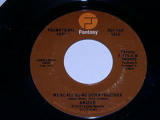 Primary image for Angelo We're All Going Down Together 45 Rpm Record Promo