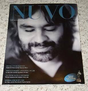 Primary image for Andrea Bocelli NUVO Magazine Vintage 2001
