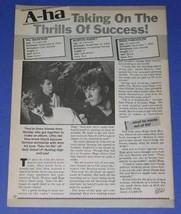 A Ha Bop Magazine Photo Vintage 1985 - $14.99