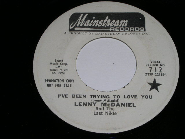 Primary image for Lenny McDaniel I've Been Trying To Love You Promo 45 Rpm Record Mainstream Label