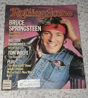 Primary image for Bruce Springsteen Rolling Stone Magazine Vintage 1984