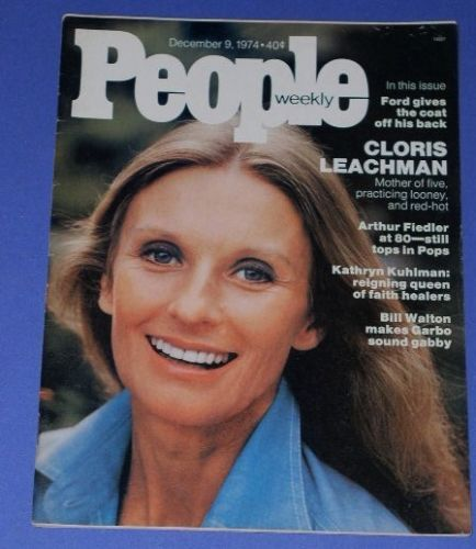 Primary image for CLORIS LEACHMAN PEOPLE WEEKLY MAGAZINE VINTAGE 1974