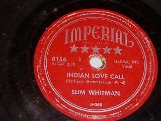 Primary image for Slim Whitman Indian Love Call 78 Rpm Phonograph Record China Doll