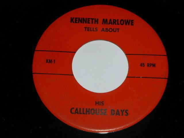 Primary image for Kenneth Marlowe Mister Madam's Callhouse Days 45 rpm