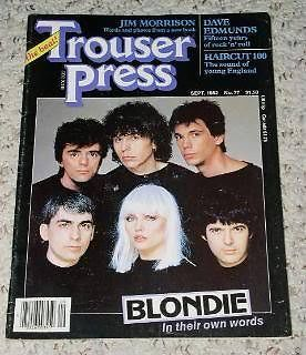 Primary image for Blondie Trouser Press Magazine 1982 Debbie Harry