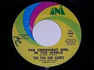Primary image for The Fun And Games Grooviest Girl In The World 45 Rpm Record Uni