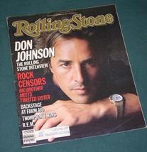 DON JOHNSON MIAMI VICE ROLLING STONE MAGAZINE 1985 - $24.99