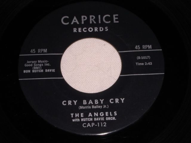 Primary image for THE ANGELS CRY BABY CRY 45 RPM RECORD