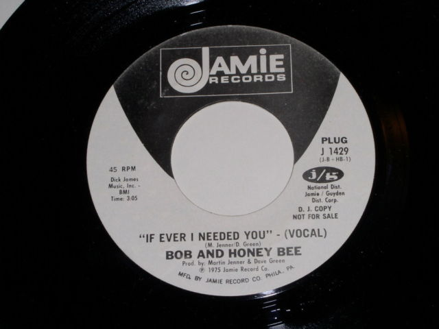 Primary image for Bob And Honey Bee If Ever I Needed You Promotional Soul 45 Rpm Vintage 1975