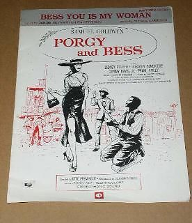 Primary image for Porgy And Bess Sheet Music Vintage 1959 Sidney Poiter