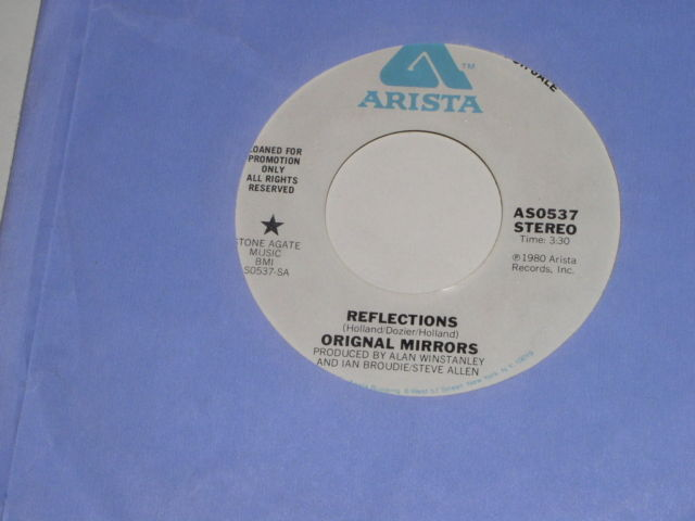 Primary image for Original Mirrors Reflections Promotional 45 Rpm Record Misspell Label