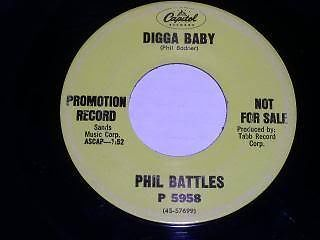 Primary image for Phil Battles Digga Baby Promotional 45 Rpm Record