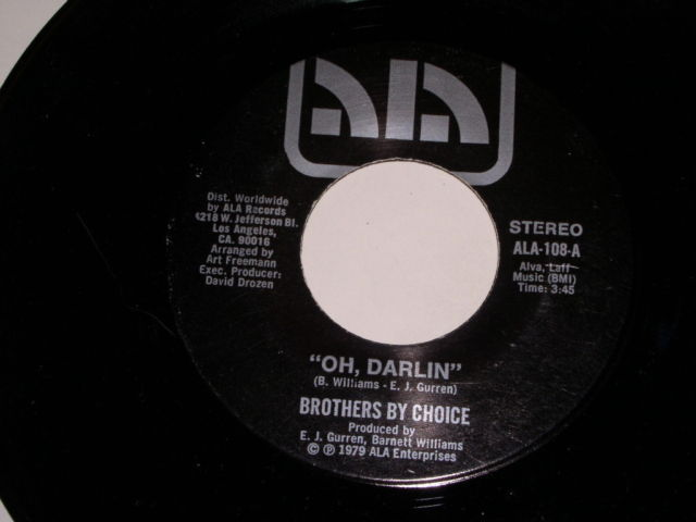 Primary image for Brothers By Choice Oh Darlin Soul 45 Rpm Vintage ALA Label 1979