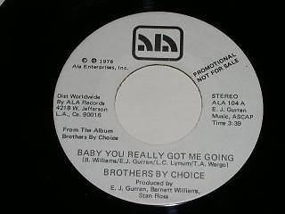 Primary image for Brothers By Choice Baby You Really Got Me Going 45 Rpm Record Promo