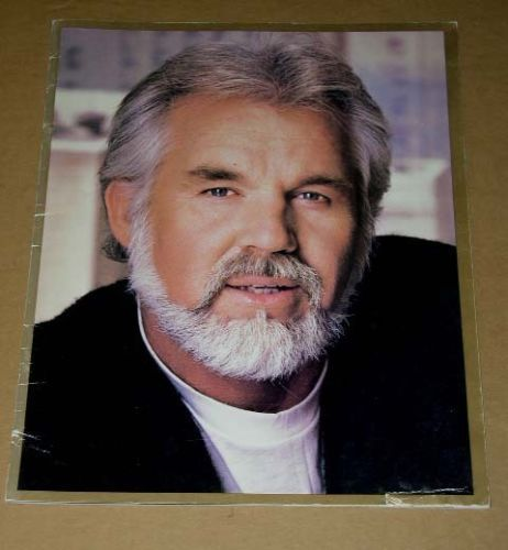 Primary image for Kenny Rogers Autographed Concert Tour Program Vintage 1985