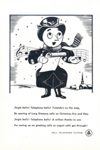 1946 Bell Telephone Figure Singing Christmas Choir print ad - $10.00