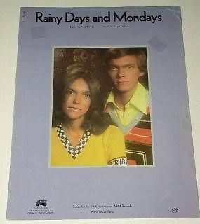 Primary image for Carpenters Sheet Music Vintage 1972