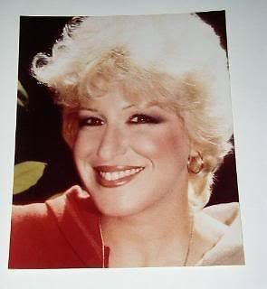 Primary image for Bette Midler Fan Club Color Photo Vintage 1984