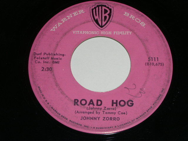 Primary image for Johnny Zorro Road Hog 45 Rpm Record Vintage Warner Bros Label
