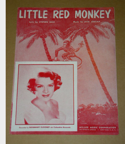 Primary image for Rosemary Clooney Little Red Monkey Sheet Music Vintage 1953