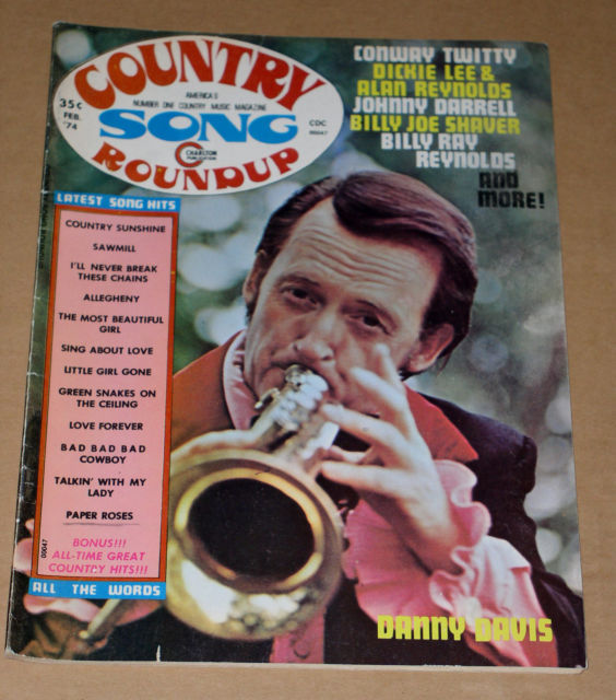 Primary image for Danny Davis Country Song Roundup Magazine Vintage 1974