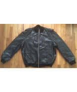 Dapper Dan Louis Vuitton LV Butter Soft Bomber Flight Leather Jacket 3XL... - $3,499.99