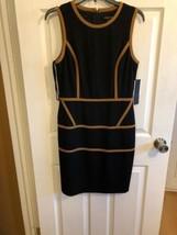 NWT Cynthia Steffe Black TAN  dress LINED size 8 $278 - $144.53