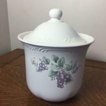 PFALTZGRAFF Pottery Grapevine Canister Jar Lid Storage Kitchen Grapes Lg/Med #3 - $23.36