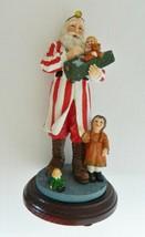 Santa Figurine Doctor Girl Doll Teddy Bear Red White Coat Marshall Potte... - $22.65