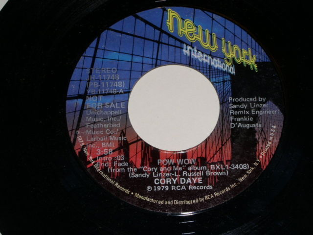 Primary image for Cory Daye Pow Wow Promotional Soul 45 Rpm Vintage 1979
