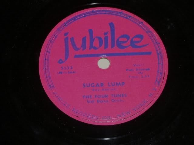 Primary image for The Four Tunes Sugar Lump 78 rpm record vintage Jubilee Records